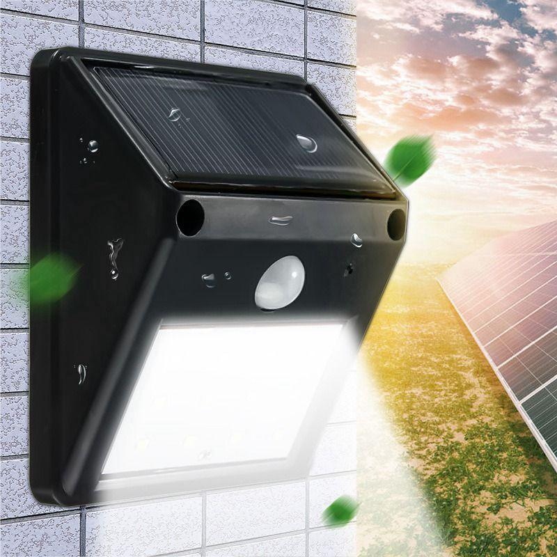 Mising impermeable 12 led de energía solar luz solar pir motion Vía de Sentido Sensor LLEVÓ la Luz Del Jardín Al Aire Libre Solar de La Lámpara de Pared luz
