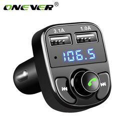 Onever FM Transmitter AUX Modulator Kit Mobil Bebas Genggam Bluetooth Mobil Audio MP3 Pemain dengan 3.1A Cepat Charge Dual USB Mobil charger