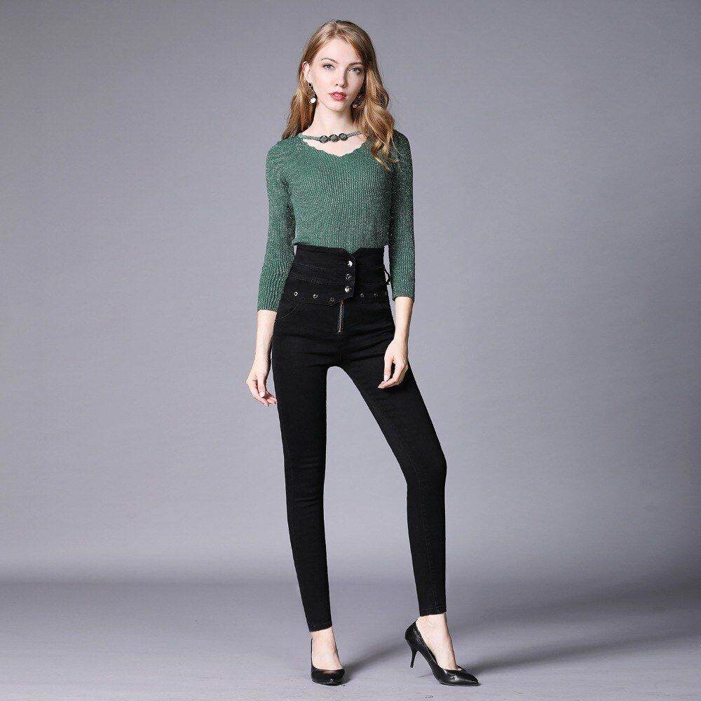 Jeans pour femmes Jeans femme haute élastique grande taille Stretch 2CB001-011 haute rue hommes Jeans décontracté Cargo pantalon Camouflage armée