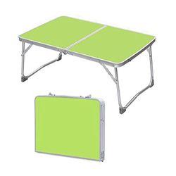 NOCM-portátil plegable mesa de Picnic/escritorio cama bandeja/soporte para el ordenador portátil ordenador (verde mesa plegable)