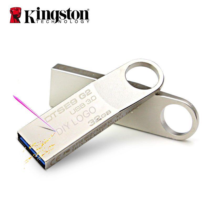 Kingston USB Flash Drive 32gb 16gb 8gb 64gb 128gb Pendrive Memory Stick USB Flash Disk DIY Flash Memoria USB Key Custom U Disk