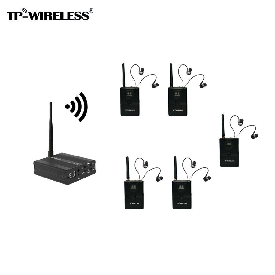 TP-WIRELESS 5 Receivers Wireless Monitor System In-Ear Stereo Wireless Stage Monitor System Portable In Ear Monitor