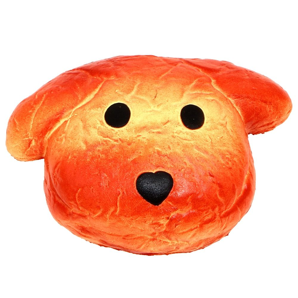 15CM Upscale Jumbo Squishy Bread Dog Super Slow Rising Bread Scented Original Package