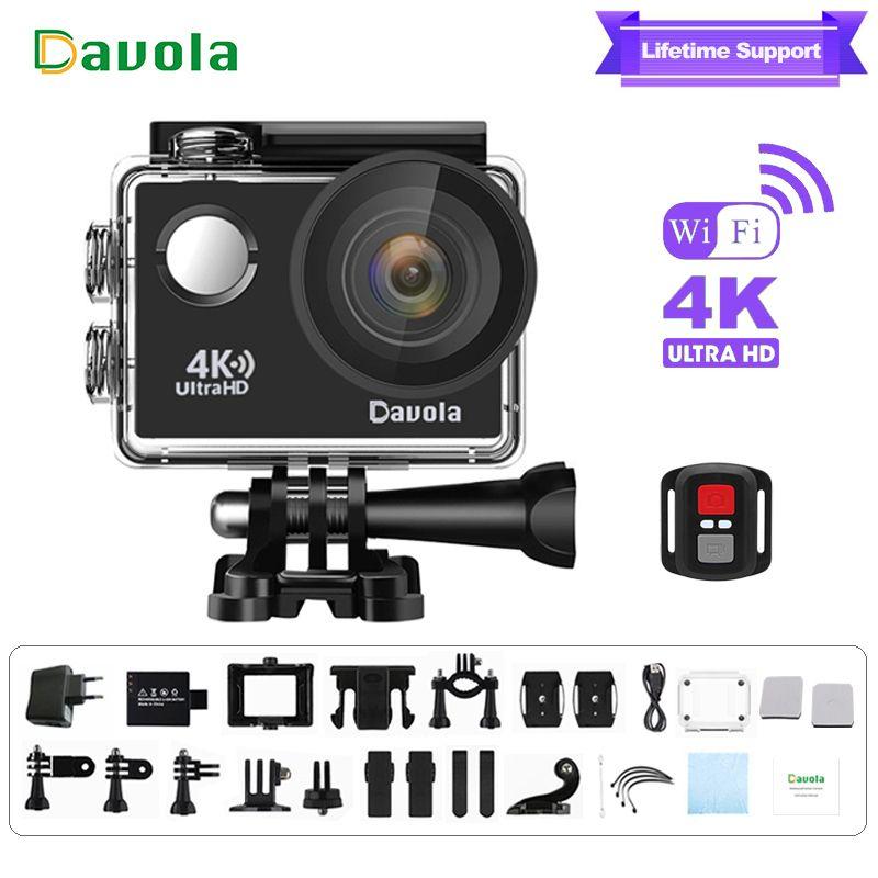 Action camera 4k sport waterproof underwater diving camera Davola HD 1080p Mini wifi go outdoor  sports helmet video pro cam