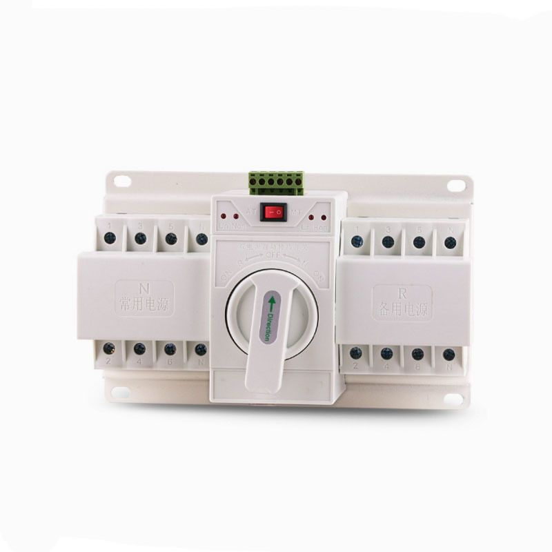 4P 63A Economics Double Power Supply Automatic transfer Change-over Intelligence Switch Device circuit breaker dc 380 660 V Mini