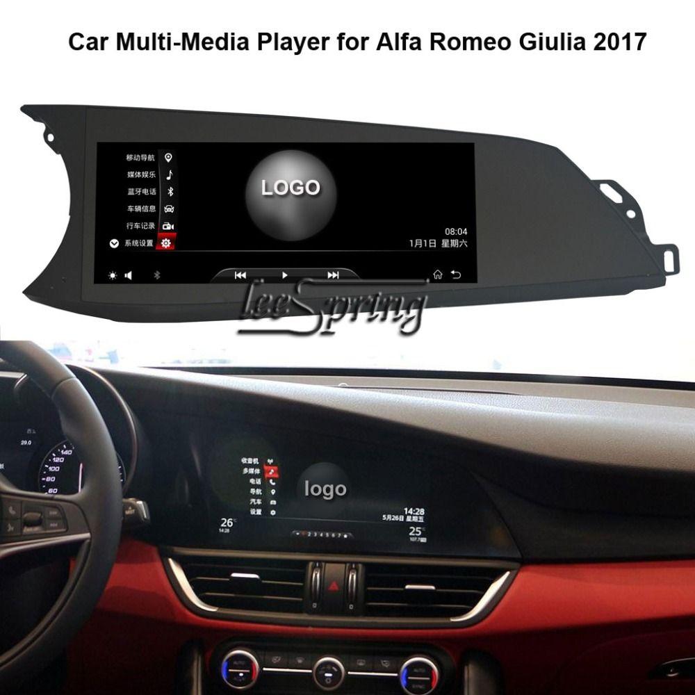 10,25 inch Auto-Multimedia-Player für Alfa Romeo Giulia 2017 mit GPS Navigation MP5 Wifi (KEINE DVD)