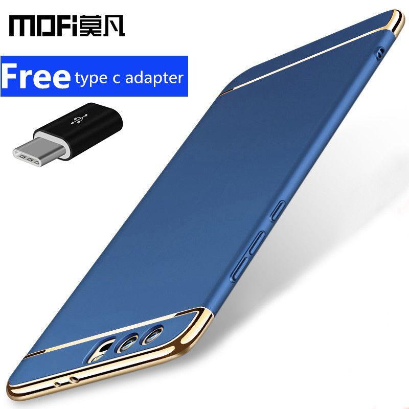 Coque Huawei honour 9 coque honour 9 coque arrière protection rigide bleu noir coques de téléphone d'origine MOFi Huawei honour 9 coque capas 5.15