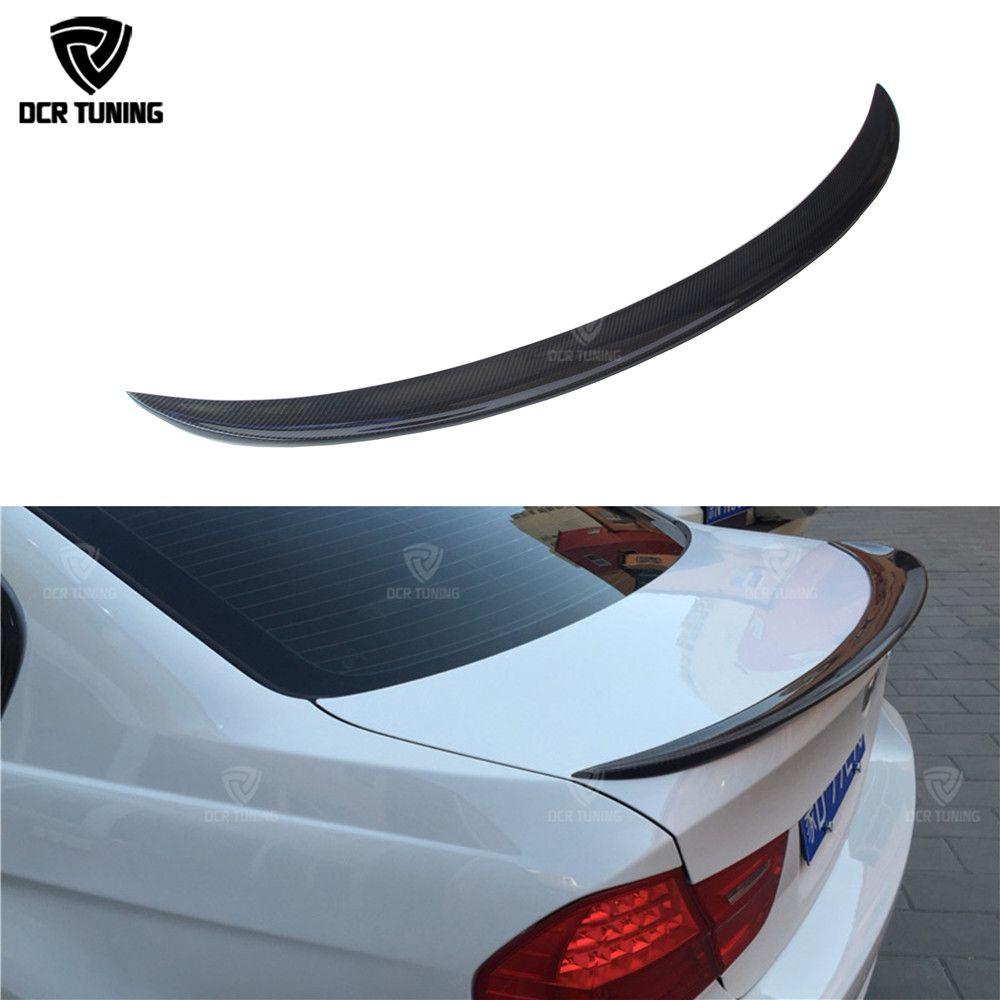 For bmw E90 spoiler E90 & E90 M3 carbon fiber rear trunk spoiler 318i 320i 325i 330i 2005-2011 E90 sedan rear wing CF