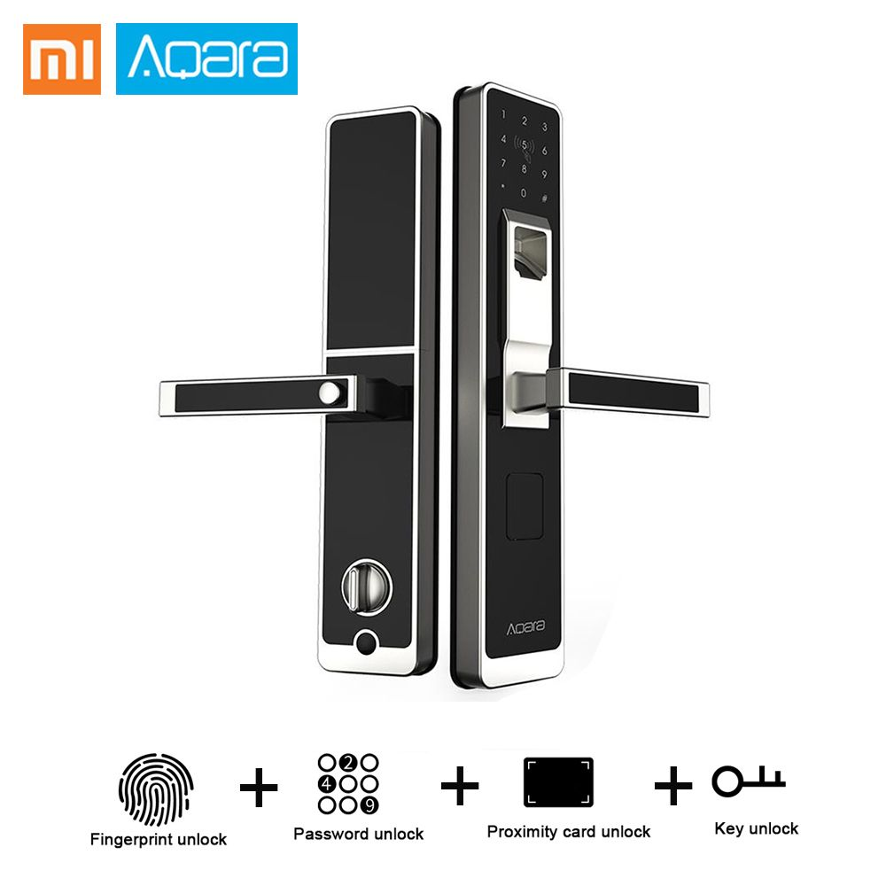 Original Xiaomi Aqara Smart Lock Door Touch ZigBee Wifi Electronic Lock App Control For Home Security Support IOS Android