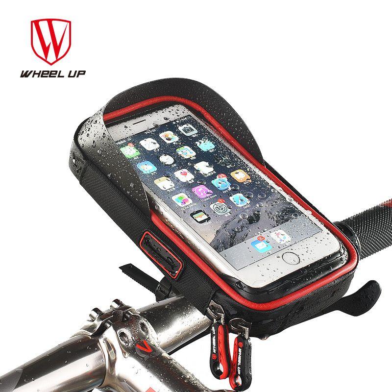 Колеса до 6.0 дюймов Водонепроницаемый ТПУ Сенсорный экран велосипед Сумки Рули для велосипеда Чехол Сумки Новый Дизайн MTB велосипеда Велосп...