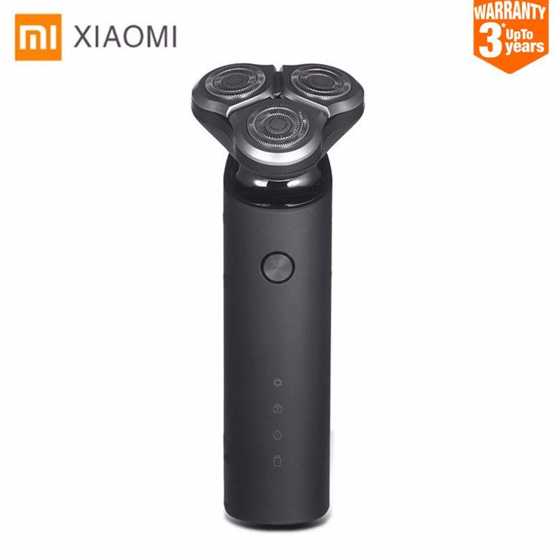 D'origine Xiaomi Mijia Électrique Rasoir rasoir pour homme Tête 3 Sec Humide Rasage Lavable Principal-Sous Double Lame Turbo + Mode confortable Propre