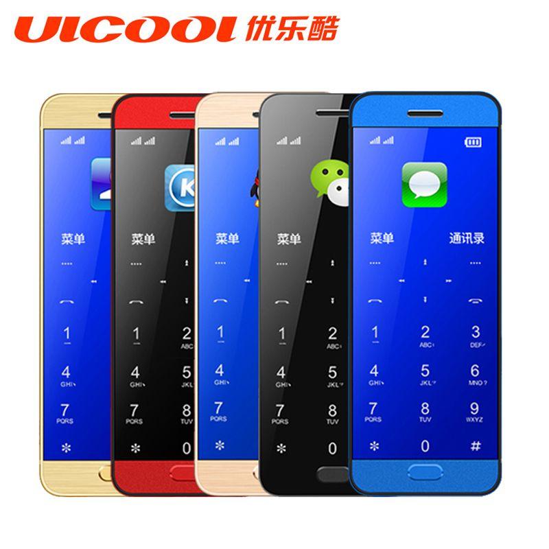 Original Ulcool V26 Mobile phone ultra-thin metal body bluetooth 2.0 dialer dual SIM credit card mobile cell phone