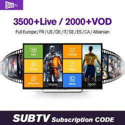 Smart Tv Box Europe 2000 canaux IUDTV/QHDTV/SUBTV IPTV 1 Abonnement d'un An Italie Arabe Allemagne Français Europe IPTV Tv Box