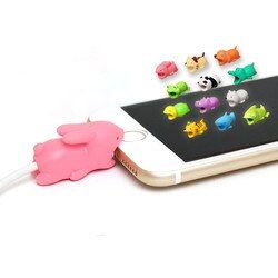 NEW Cable Protector for Iphone cable Winder dog Bite Phone holder Accessory Organizer rabbit dog cat doll Animal cable organizer