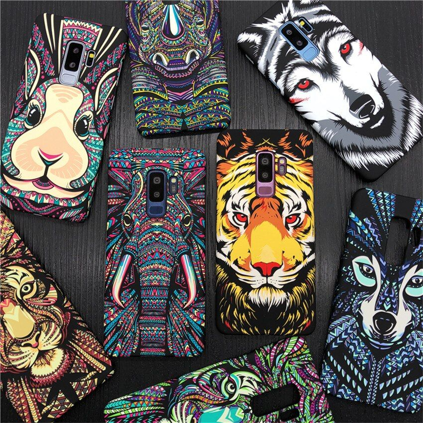 Fashion Animal Case For Samsung Galaxy S9 S9Plus Case Tiger Elephant Night Glow Hard Phone Cases For Galaxy S6 S7 S7Edge S8 Plus
