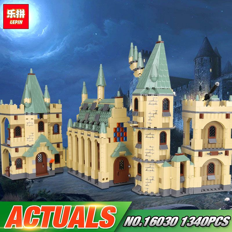 Lepin 16030 Movie Series 1340Pcs The 48042 Hogwarts Castle Set Building Blocks Bricks Assembly New Year Gift Kid Christmas Toys
