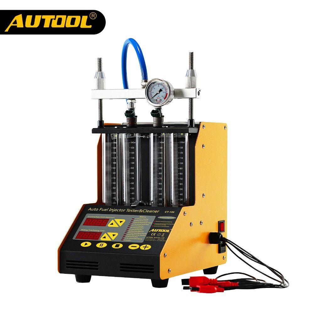AUTOOL CT150 Auto Injektor Tester Ultraschall Reinigung Auto Kraftstoff Injektoren Reiniger Für Fahrzeug Reparatur 4 Zylinder Diagnose Werkzeug