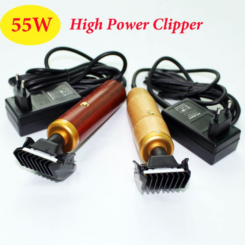 Professionnel chien Clipper 55W EU haute puissance électrique ciseaux animal tondeuse toilettage chat lapins tondeuse cheveux bois coupe Machine