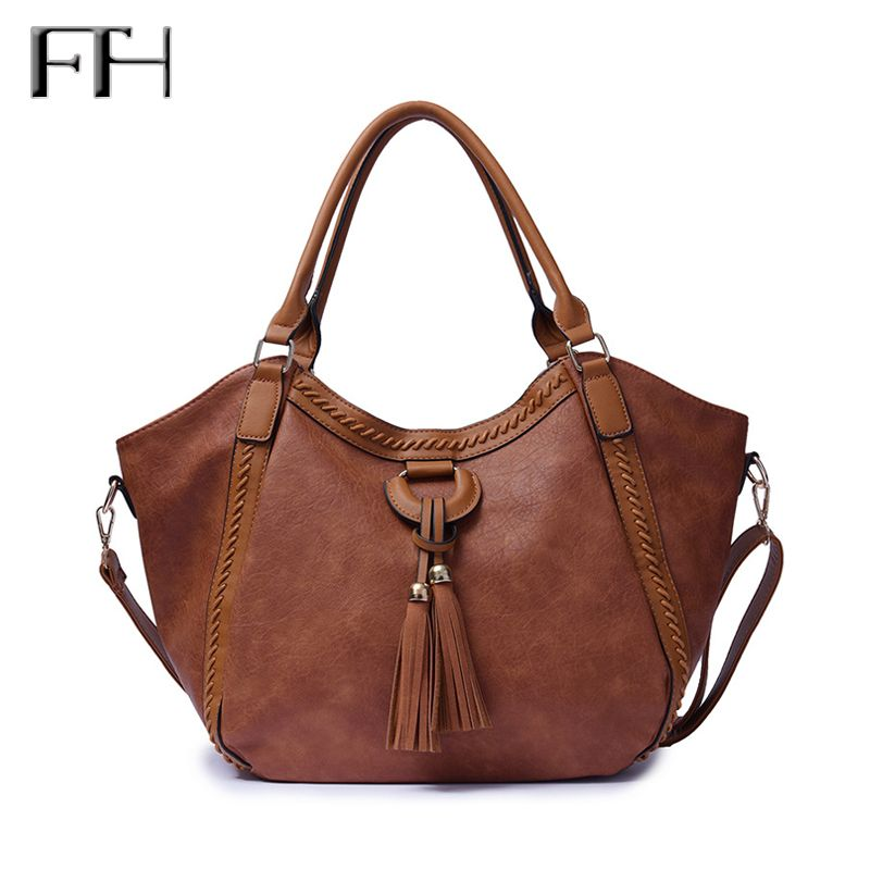 2018 Remmendation Fashion Female Big capacity Tote Bags with Tassel Pendant Women Elegant shoulder bags Delicate crossbody bags