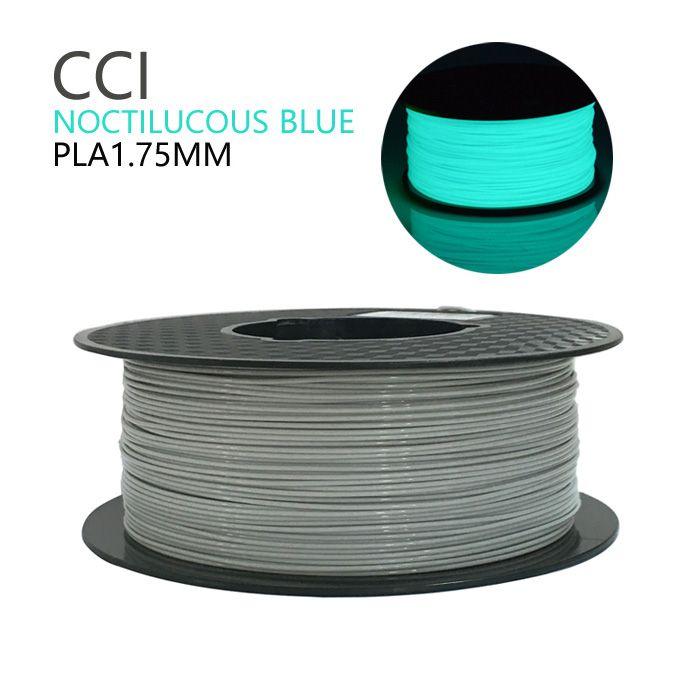 Noctilucous pla 3d imprimante filament noctiucent 1.75mm matériel d'impression noctilucous bleu stylo filament 1 kg lueur dans le noir
