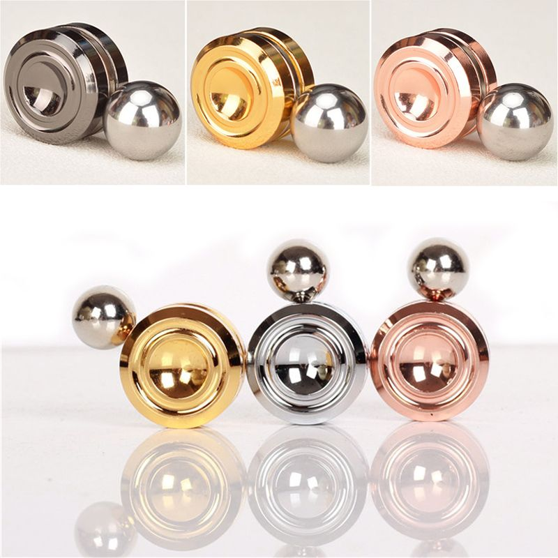 Fidget Toys Magnetic Orbiter Artificial Satellite Magnet Gyroscope Hand Spinner Metal EDC Decompression Toys For ADHD #E