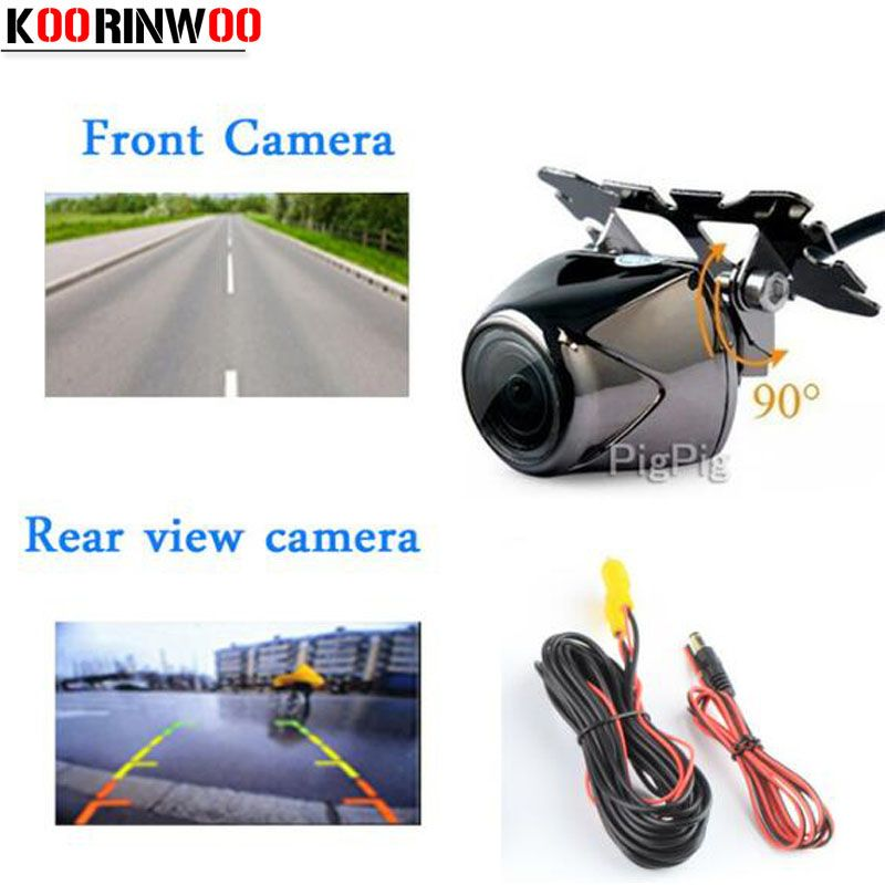 Koorinwoo Good Quality Car Rear View Parking Camera With HD Night Led Lights For DVD Back Front Camera With Parking Guide Line