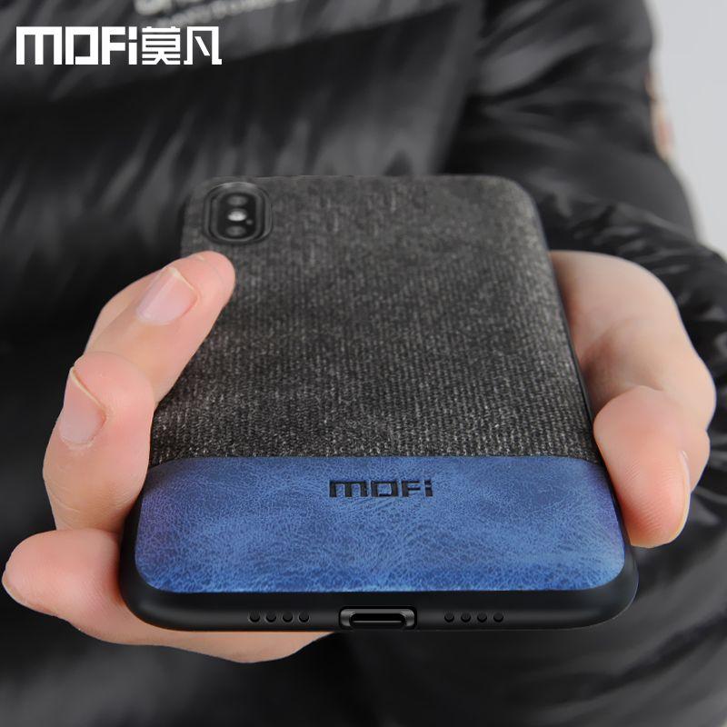 Cas MOFi pour iphonex housse silicone bord antichoc hommes d'affaires pour apple x iphone x couverture arrière pour iphonex iphone x cas