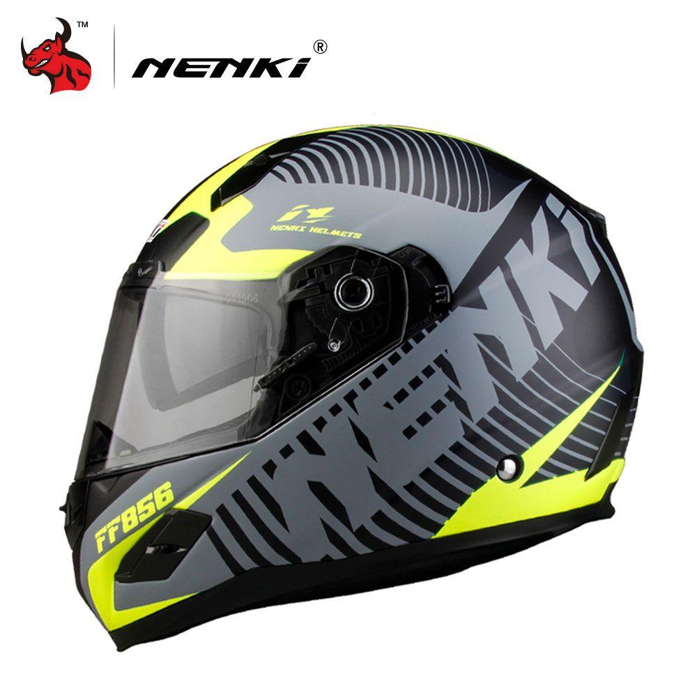 NENKI Для мужчин Для женщин мотоциклетный шлем DOT Сертификация стекловолокна В виде ракушки улице велосипед гоночный мотоцикл езда шлем Capacete ...