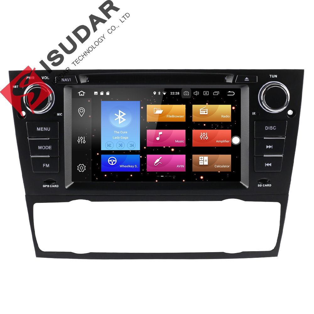 Isudar Car Multimedia Player GPS 2 Din Android 8.0 Für BMW/3 Serie E90/E91/E92/E93 Canbus Wifi Bluetooth Radio Mikrofon DSP
