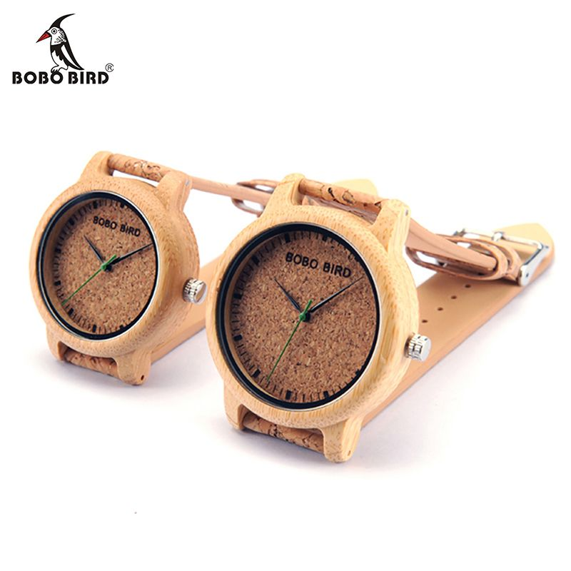 Бобо птица loves'fashion бамбука наручные Часы Элитный бренд кварцевые наручные часы с пробкой группа для Для мужчин Для женщин Relojes Mujer 2017