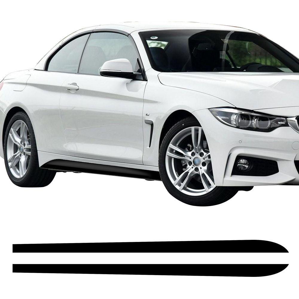 Par falda lateral Sill Decal raya vinilo sticker nuevo estilo M rendimiento para BMW 4 serie F32 F33 F34 420i 428i 435i