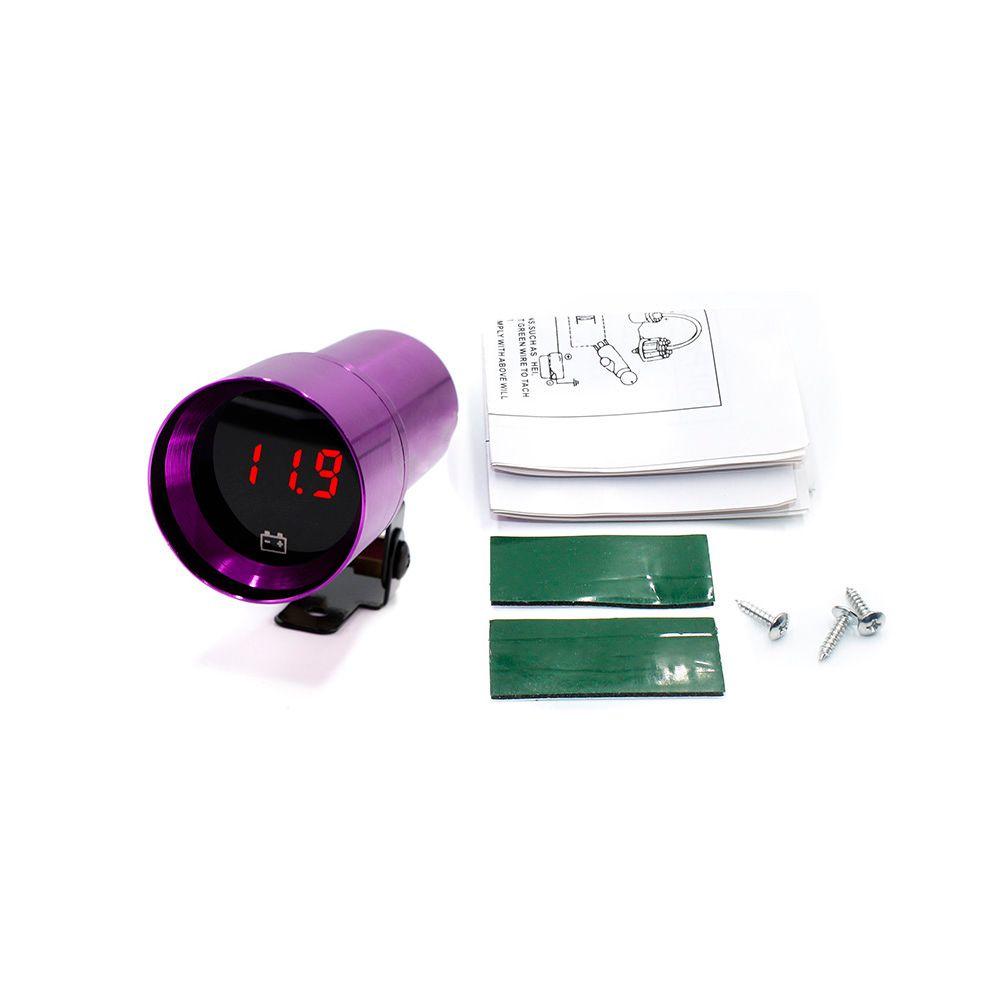 CNSPEED Free shipping Universal 37mm Car Voltmeter Gauges Mini Smoke 8-18V  Volts Gauge Red LED Volts Meter/Auto Gauge TT100146