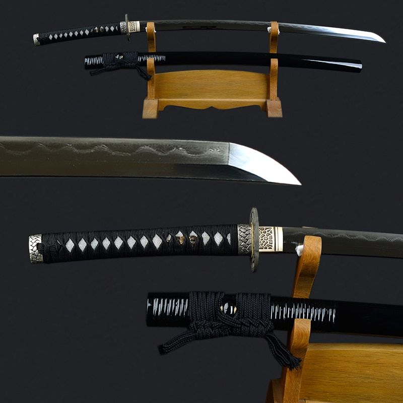 Sharp Sword Decorative Metal Katana Folded Steel Clay Tempered Japanese Katana Fully Handmade Sharp Samurai Sword Espada