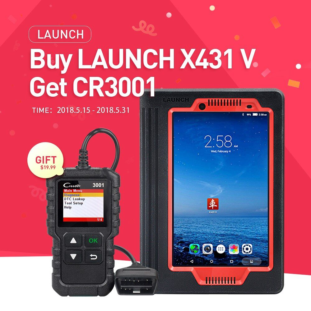 LAUNCH X431 V 8 inch version Bluetooth/Wifi Full System Auto OBD2 Diagnostic Tool Multi-Language Online Update as X-431 PRO Tool
