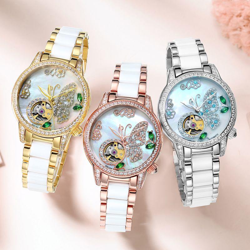 2018 AAA Mechanical watch ladies brand luxury ladies automatic watch sapphire female watch waterproof Reloj Hombre