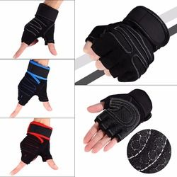 1 Pair Weight Lifting Gloves Half Finger Fitness Gloves Anti-skid Training Exercise Cycling Sports Bodybuilding Gym Gloves