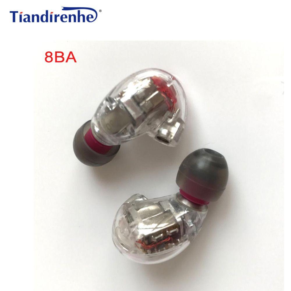 DIY HIFI Custom Made MMCX 8BA Balanced Armature BA Drivers in Ear Headset Earphone for Shure SE215 SE535 SE846 Cable Headphones