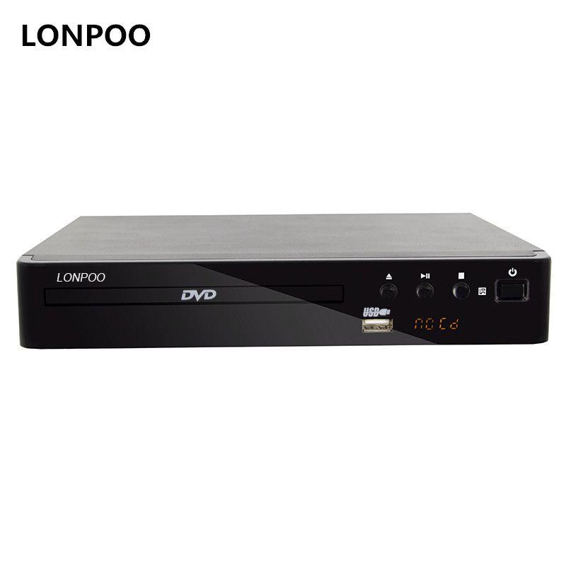 LONPOO Mini USB RCA HDMI DVD Player Region Free Multiple OSD Languages DIVX MPEG4 DVD CD RW Player LED Display Player DVD MP3