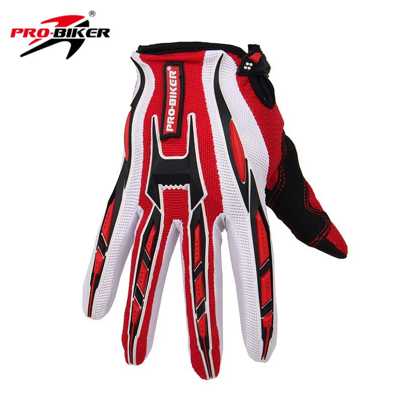PRO-BIKER Motorcycle Gloves Motorbike Racing Cycling Full Finger Gloves Bicycle MTB Dirt Bike Motocross Off-Road Riding Gloves