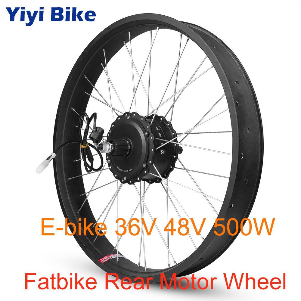 36 V 48 V 500 W Fett Bike Elektrische Bike Conversion Kit BLDC Motor Kassette Schraube 20 26 zoll 700C hinten MotorWheel Direct Drive Motor