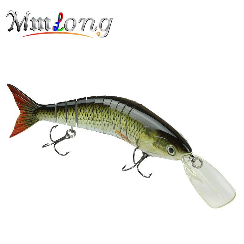 Mmlong 2016 High Quality Professional Fishing Lure Big Multi Jointed  Crankbait Slow Sinking Hard Fishing Lip Baits # MML11-M