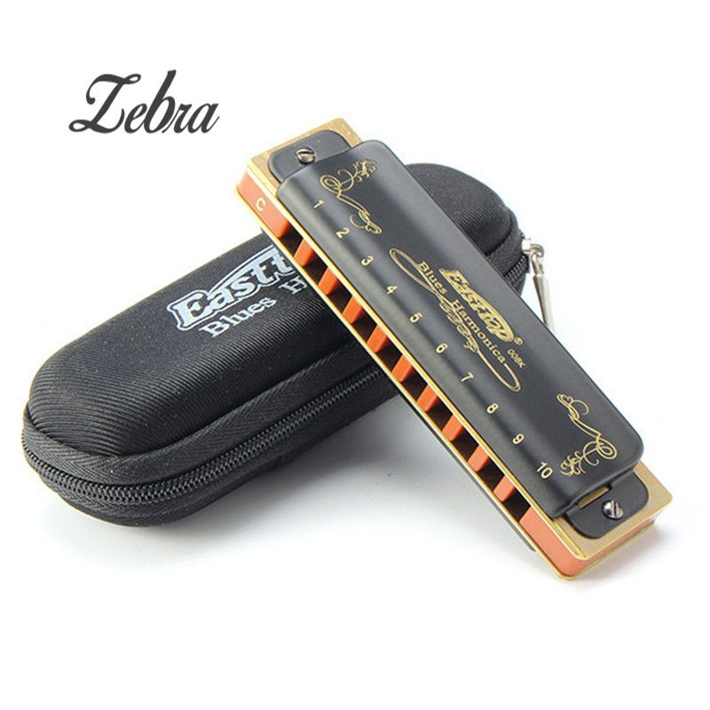Easttop T008K 10 Hole Diatonic Blues Harmonica Armonicas Mouth Ogan Woodwind Musical Instrument Melodica