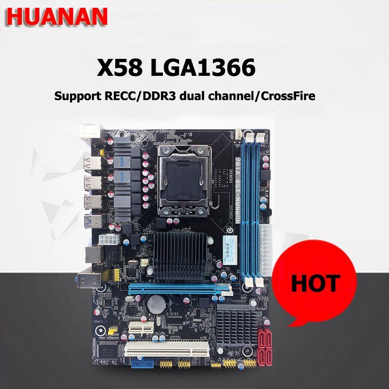 HUANAN X58 motherboard USB3.0 X58 LGA1366 desktop motherboard DDR3 2 channels 2 years warranty tested before shipping