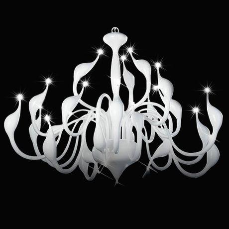 LED Schwan Kreative Design Kronleuchter, 12 Licht, goldene Metall Weiß schwarz Rot Verchromt kostenloser versand Kronleuchter 110-220 v