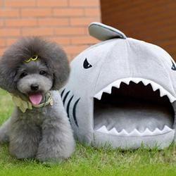 Nuevo tiburón forma gato Casa de perro suave caliente Pet Sleeping Bag perro perrera camas para gatos casa nido Mat productos para mascotas