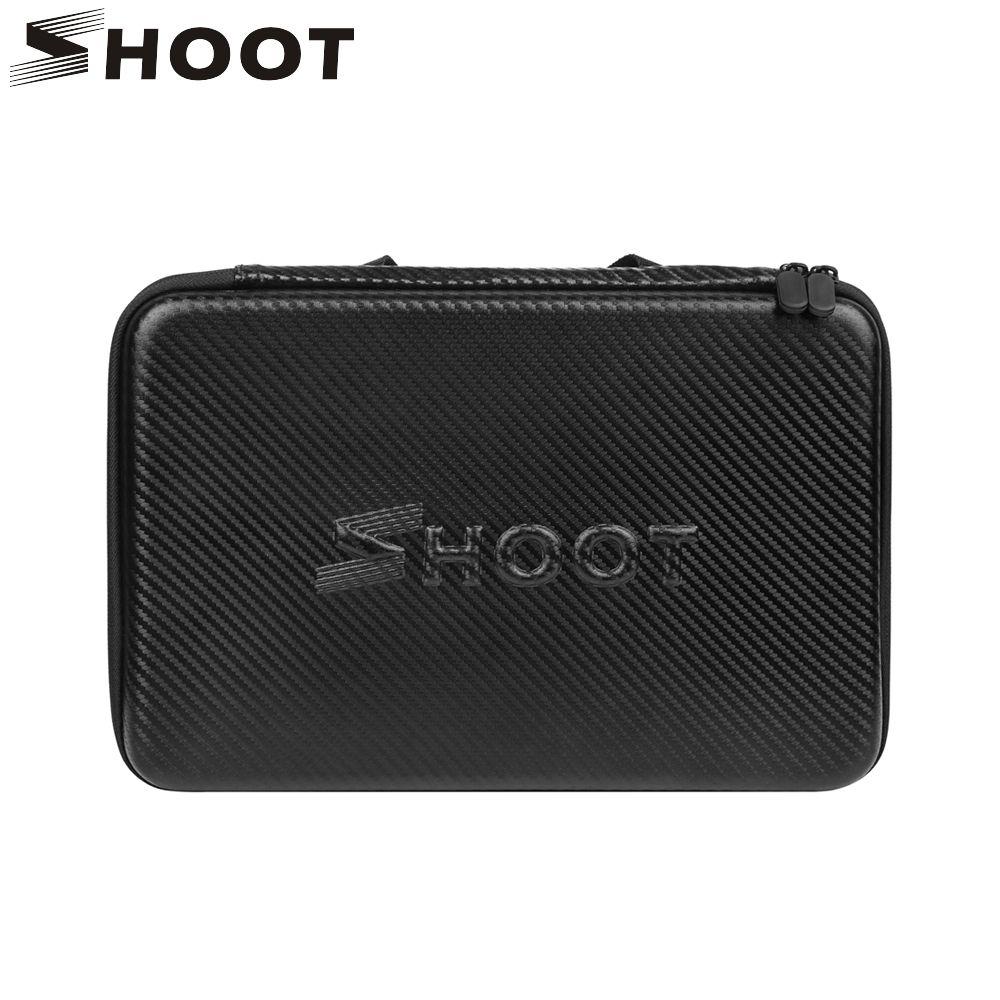 SHOOT L/M/S Action Camera Waterproof EVA Storage Case for GoPro Hero 6 5 4 Session SJCAM Xiaomi Yi 4K Eken h9 Go Pro Accessory