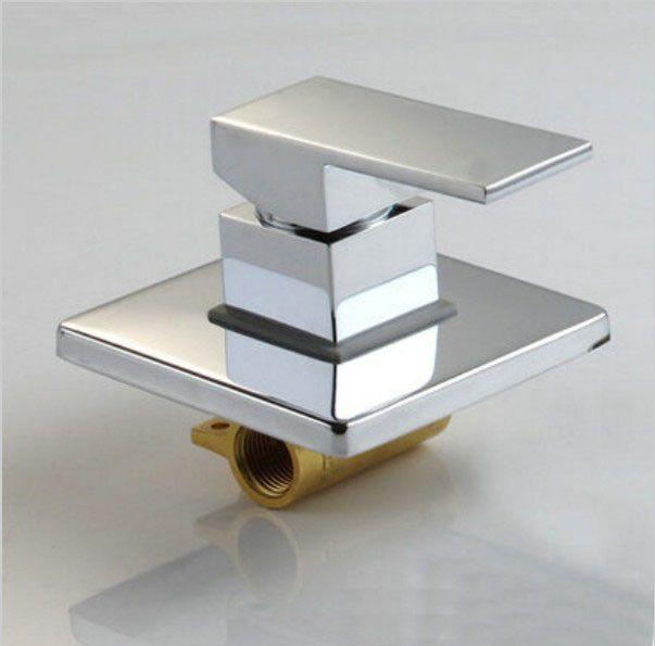 Robinet de salle de bain chaud et froid robinet de douche dissimulé robinets mélangeur dans la vanne murale en laiton Chrome fonction Singl robinet de douche