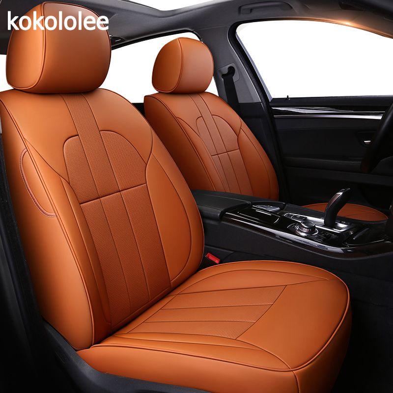kokololee Custom real leather car seat cover for Skoda Octavia 2 a7 a5 Fabia Superb Rapid Yeti car seats protector car cushion