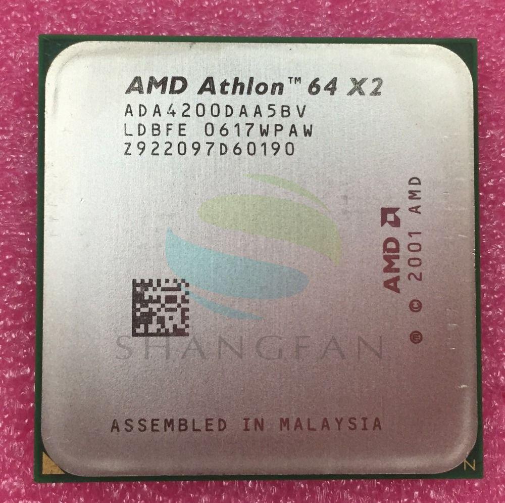Processeur d'unité centrale double cœur AMD Athlon X2 4200 + 2.2 GHz X2 4200 ADA4200DAA5BV ADA4200DAA5CD 89 W Socket 939pin CPU de bureau