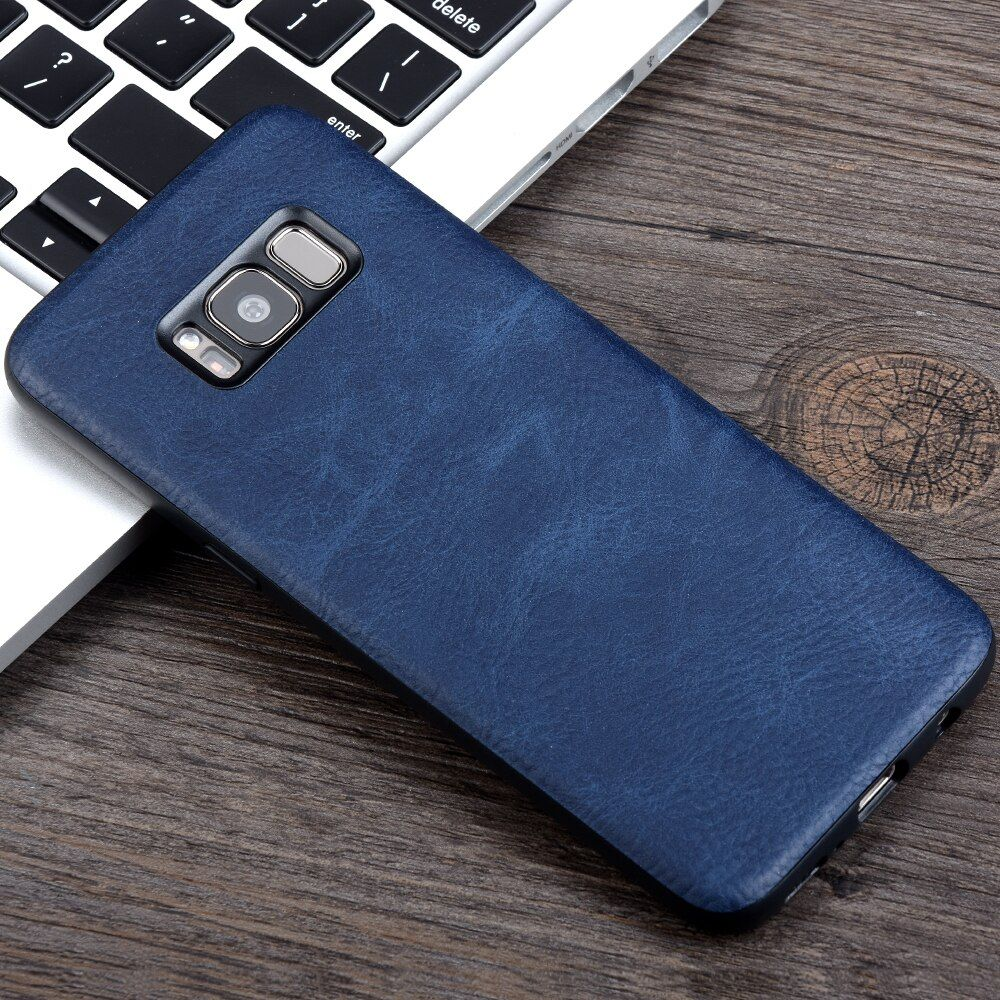 KEYSION Case For Samsung Galaxy S8 S8 Plus Luxury PU Leather Soft TPU+PC Back Cover for Samsung G950 G955 Business Cover Fundas